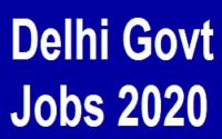 14476 Delhi Govt Jobs 2020 3 Delhi Govt Jobs 2020